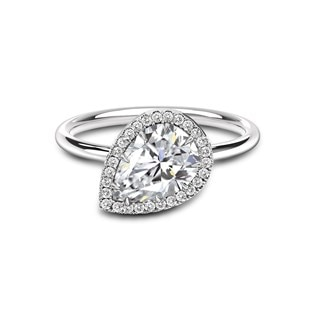 Free Bird Halo Solitaire Ring