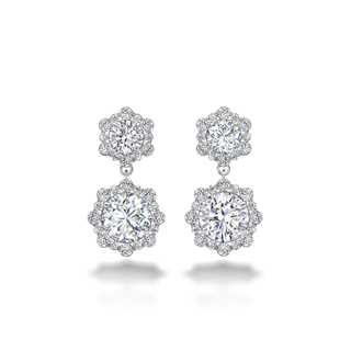 Integre Diamond Drop Earrings