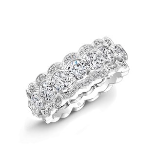 Scallop Diamond Band