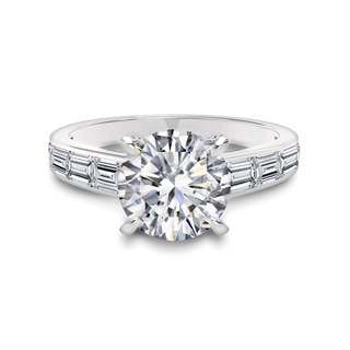 Single Row Baguette Engagement Ring