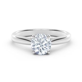 Black Label Solitaire Engagement Ring