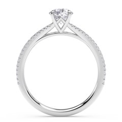 Forevermark Icon™ Setting Oval Engagement Ring with Two Row Pave Band