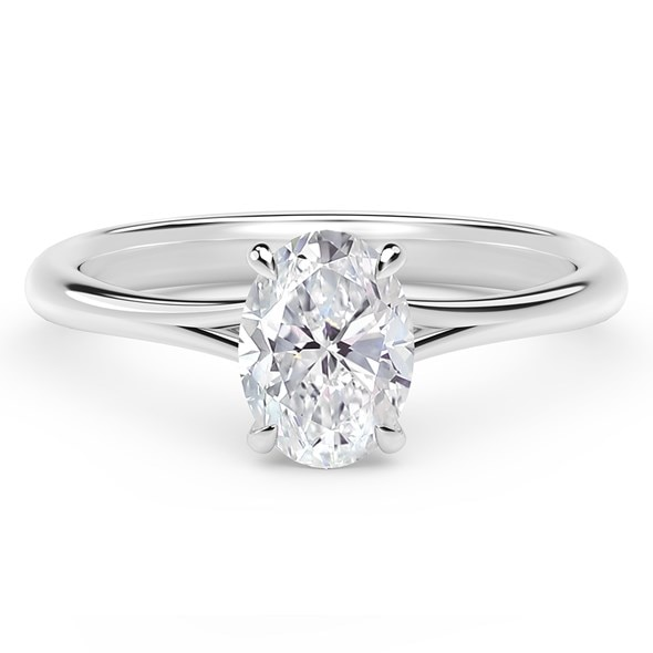 Forevermark Icon Setting Oval Engagement Ring With Diamond Basket Forevermark