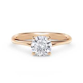 Forevermark Icon™ Setting Round Engagement Ring with Diamond Basket