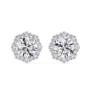Center of My Universe® Floral Halo Diamond Stud Earrings