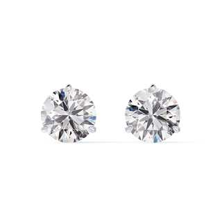 Classic Three Prong Diamond Stud Earrings