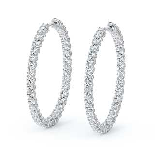Large Inside Outside Diamond Hoops
