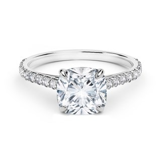 FireCushion® Solitaire Engagement Ring