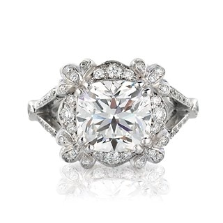 Intricate Diamond Engagement Ring