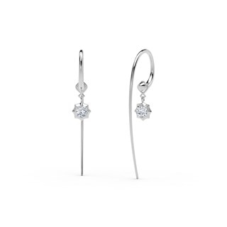 The Forevermark Alchemy™ Collection by Jade Trau Large Hoop with Single Drop (Available in four shapes)