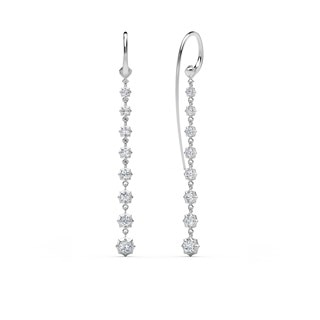 The Forevermark Alchemy™ Collection by Jade Trau Large Hoop with Short Drop (Available in four shapes)