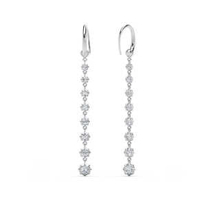 The Forevermark Alchemy™ Collection by Jade Trau Hoop with Short Drop  (Available in four shapes)