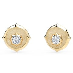 The Forevermark Alchemy™ Collection by Jade Trau Button Earrings (Available in four shapes)