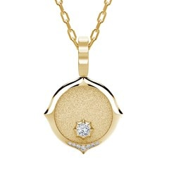 The Forevermark Alchemy™ Collection by Jade Trau Medallion Necklace (Available in four shapes)