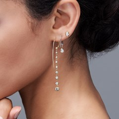 The Forevermark Alchemy™ Collection by Jade Trau Hoop with Single Drop  (Available in four shapes)
