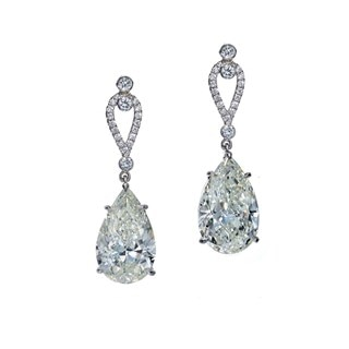 Pear Diamond Drop Earrings