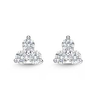 Diamond Line Shared Prong Studs
