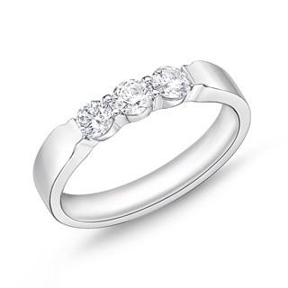 Classic Diamond Jewelry  The Three Stone Ring  5a128454c9