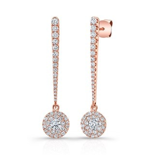Elongated Diamond Drop Earrings