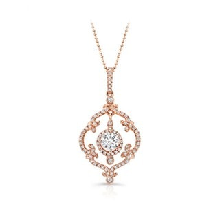 Vintage Rose Gold Diamond Pendant