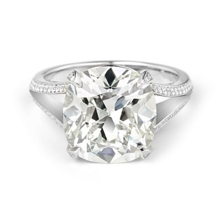Modern Cushion Diamond Engagement Ring