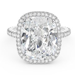Exceptional Diamond Cushion Halo Ring