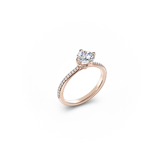 The Forevermark Solitaire Pavé Ring