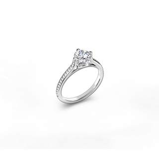 The Forevermark Solitaire Bridge Pavé Ring