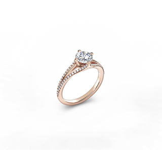 The Forevermark Solitaire Open Shank Pavé Ring