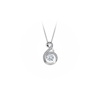 Swan Solitaire Pave Pendant