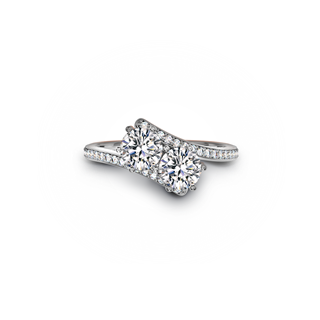 EVER US TWO STONE DIAMOND RING
