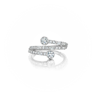 """You & Me"" Deco Spiral Ring"
