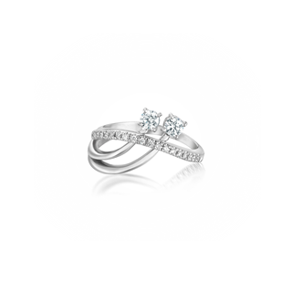"""YOU & ME"" COQUETTE RING"