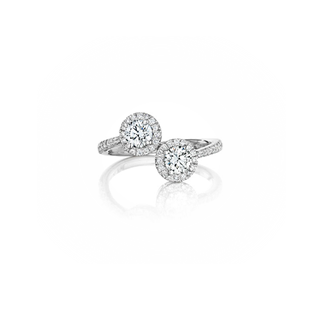 """You & Me"" Twin Halo Ring"