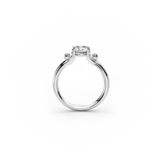 Enamor™ Solitaire Ring with 2 small diamonds
