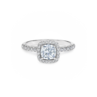 Martini Halo Engagement Ring