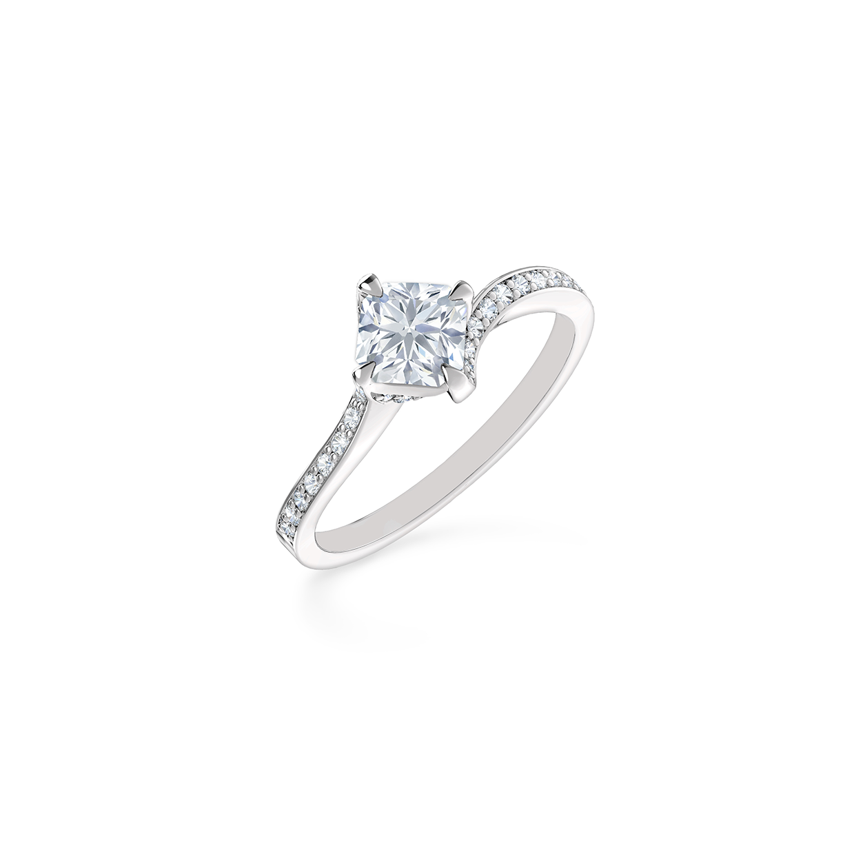 twisted shank solitaire engagement ring forevermark