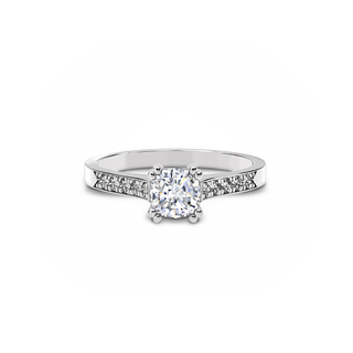 Solitaire Channel Engagement Ring