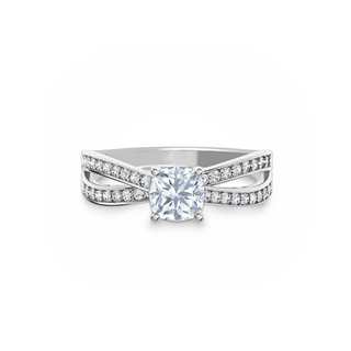 Bow Tie Solitaire Diamond Engagement Ring