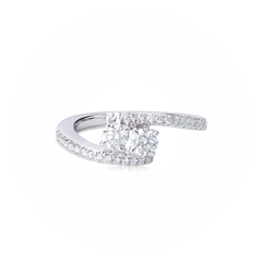 Twogether™ Collection Two Stone Two Line Ring
