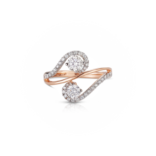 Twogether™ Two Diamond Pavé Ring