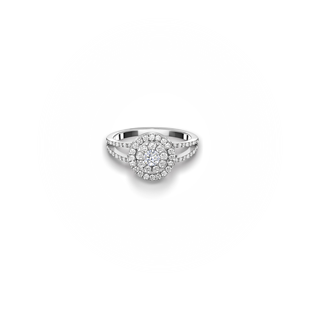 CENTER OF MY UNIVERSE™ SPLIT SHANK HALO RING