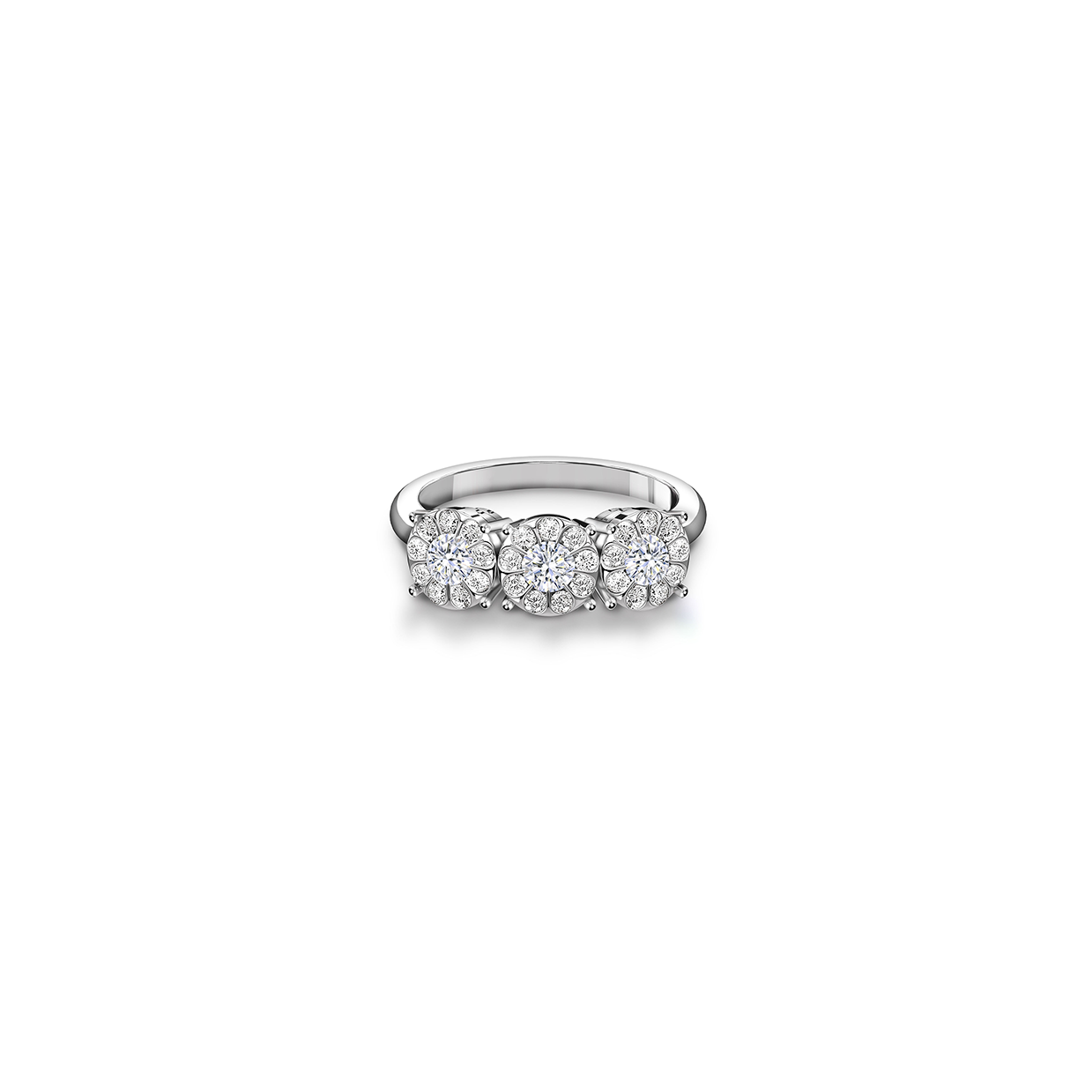 Center Of My Universe Three Stone Ring Forevermark