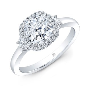 Halo Accented Diamond Engagement Ring