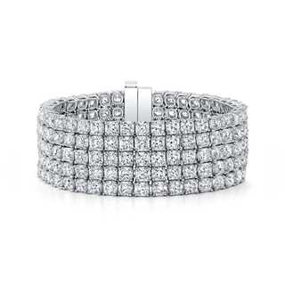 Five Row Black Label Square Diamond Bracelet
