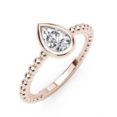 The Forevermark Tribute™ Collection Diamond Pear North-South Beaded Ring