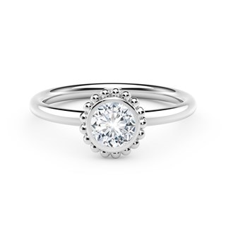 The Forevermark Tribute™ Collection Beaded Diamond Ring