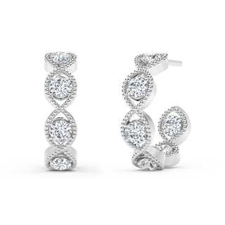 The Forevermark Tribute™ Collection Braided Hoop Earrings