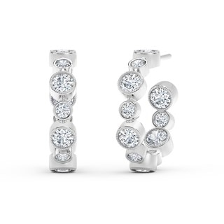 The Forevermark Tribute™ Collection Bezel Hoop Earrings