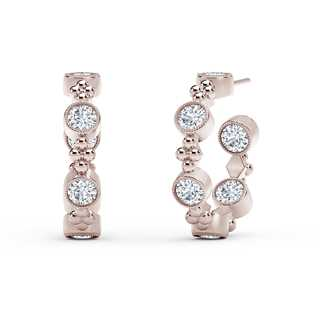 The Forevermark Tribute™ Collection Beaded Hoop Earrings